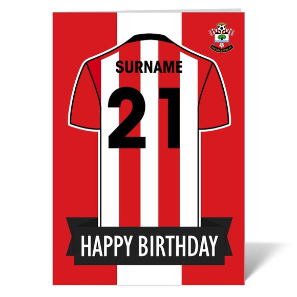Southampton FC Shirt Birthday Card-Poppy Stop-ITP_GC_A4_UK-Poppy Stop