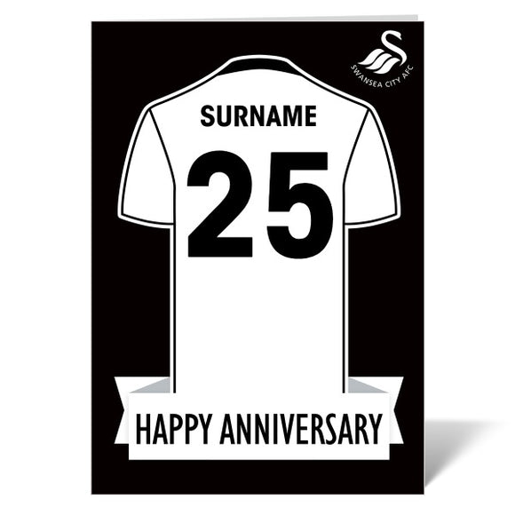 Swansea City AFC Shirt Anniversary Card-Poppy Stop-ITP_GC_A4_UK-Poppy Stop