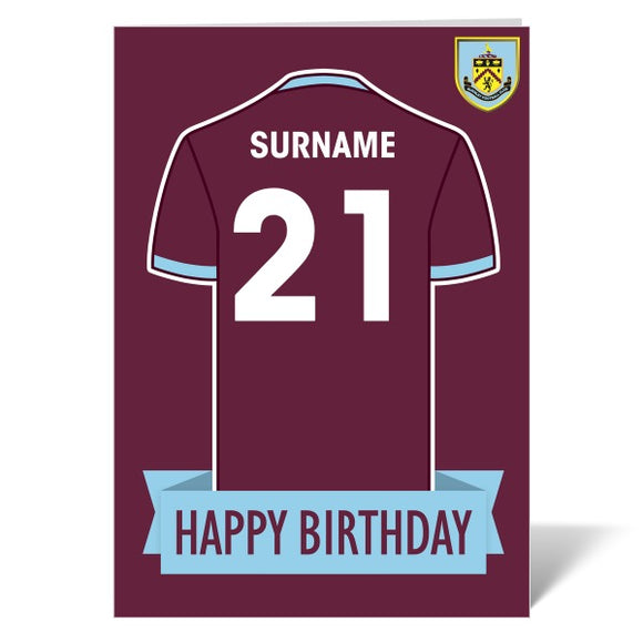 Burnley FC Shirt Birthday Card-Poppy Stop-ITP_GC_A4_UK-Poppy Stop