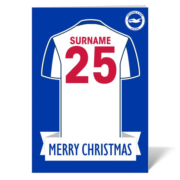 Brighton & Hove Albion FC Shirt Christmas Card-Poppy Stop-ITP_GC_A4_UK-Poppy Stop