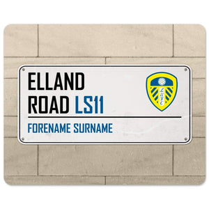 Leeds United FC Street Sign Mouse Mat-Poppy Stop-Poppy Stop
