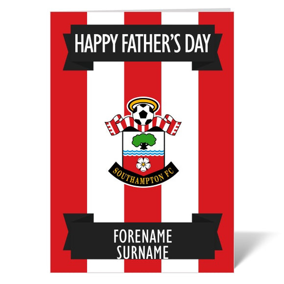 Southampton FC Crest Father's Day Card-Poppy Stop-ITP_GC_A4_UK-Poppy Stop