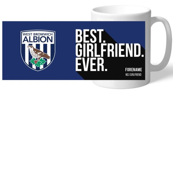 West Bromwich Albion FC Best Girlfriend Ever Mug-Poppy Stop-Poppy Stop