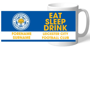 Leicester City FC Eat Sleep Drink Mug-Poppy Stop-Poppy Stop