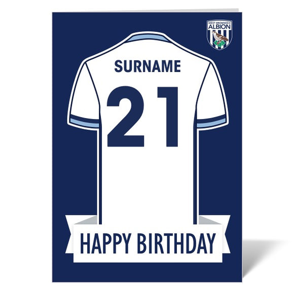 West Bromwich Albion FC Shirt Birthday Card-Poppy Stop-ITP_GC_A4_UK-Poppy Stop