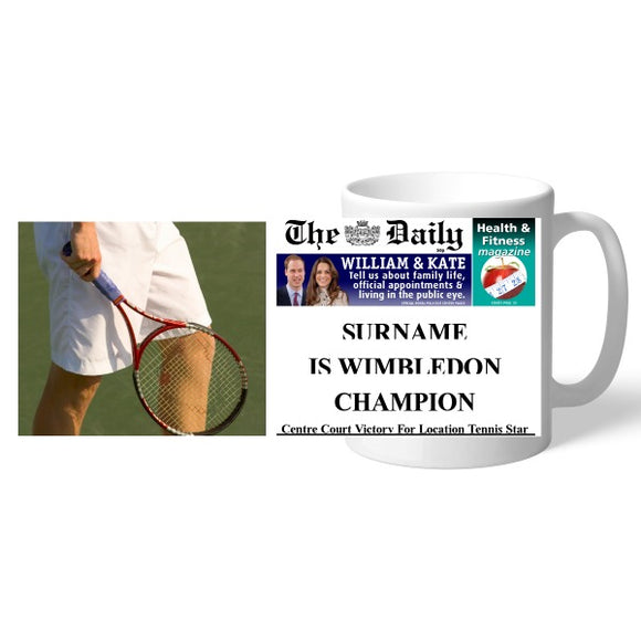 The Daily Male Tennis Mug-Poppy Stop-Poppy Stop