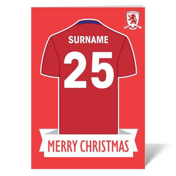 Middlesbrough FC Shirt Christmas Card-Poppy Stop-ITP_GC_A4_UK-Poppy Stop