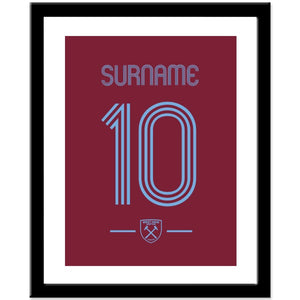 West Ham United FC Retro Shirt Print-Poppy Stop-Poppy Stop