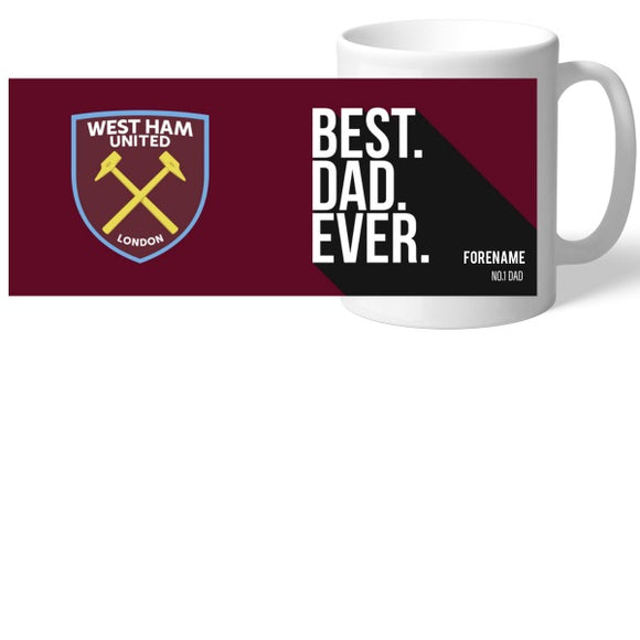 West Ham United FC Best Dad Ever Mug-Poppy Stop-Poppy Stop