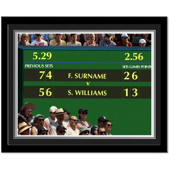 Personalised Female Tennis Photo Framed-Poppy Stop-Poppy Stop