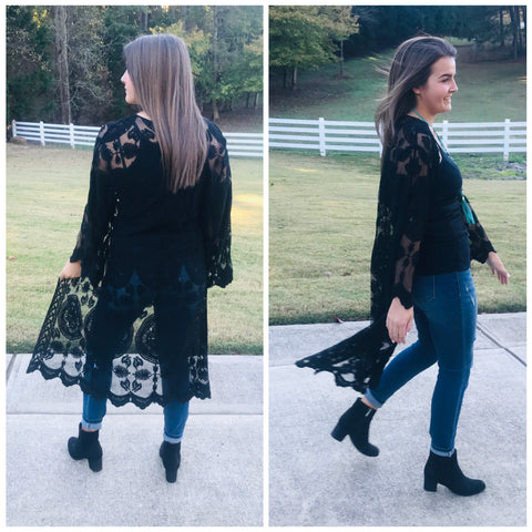 Black Lace Duster