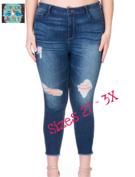 Perfectly distressed jeans!