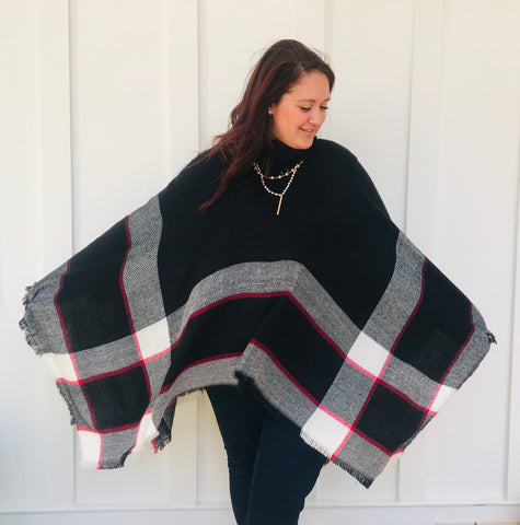 Pretty & Plaid Poncho