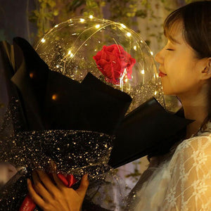 (Christmas Sale 50% Off) LED Luminous Balloon Rose Bouquet