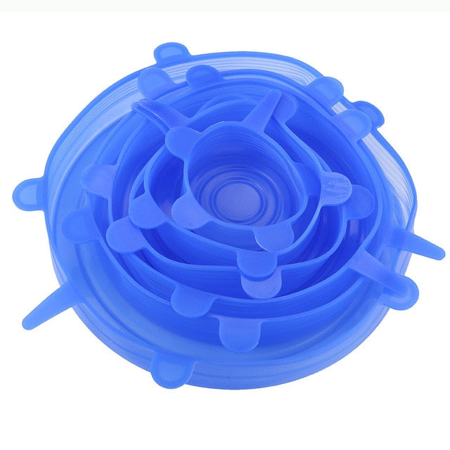 Silicone Lids Durable Reusable Food Save Cover