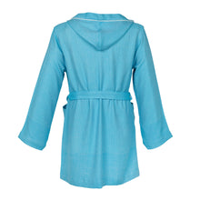 Load image into Gallery viewer, Buenos Aires Comfy Turquoise Blue Bamboo Women's Robe - Eselba