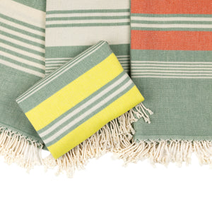 Cape Town Green Cotton Beach Towel - Eselba