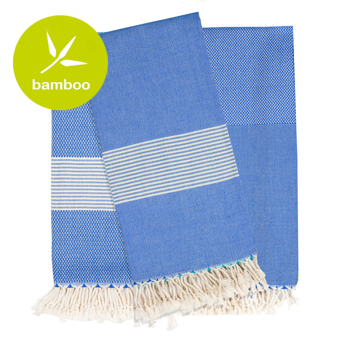 Copenhagen Dark Blue Bamboo Beach Towel - Eselba