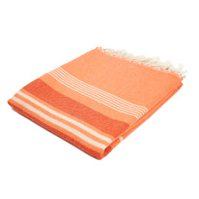 Load image into Gallery viewer, Havana Living Coral Cotton Beach Towel - Eselba