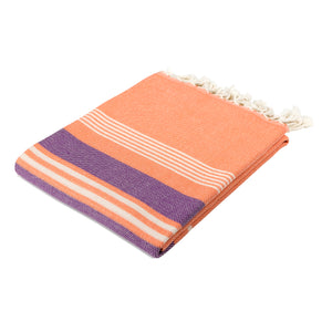Havana Living Coral Cotton Beach Towel - Eselba