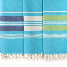 Load image into Gallery viewer, Izmir Light Blue Cotton Beach Towel - Eselba