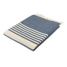 Load image into Gallery viewer, New York Navy Blue Cotton Beach Towel - Eselba