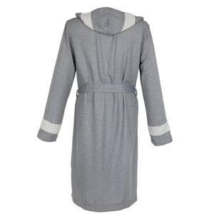 Paris Fitty BoxBox Dark Gray Bamboo Men's Lounge Robe - Eselba
