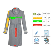 Load image into Gallery viewer, Paris Fitty BoxBox Dark Gray Bamboo Men's Lounge Robe - Eselba