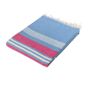 Santorini Blue Cotton Beach Towel - Eselba