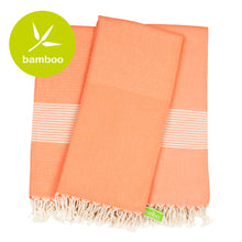 Load image into Gallery viewer, Vegas Living Coral Bamboo Beach Towel - Eselba