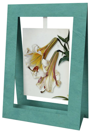 2 Lillies Mini Swing Elegant Blank Greeting Cards with Floral Designs for Anniversary, Baby Shower, Birthday, Wedding, and Bridal Shower