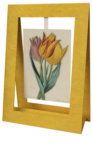 3 Tulips Mini Swing Elegant Blank Greeting Cards with Floral Designs for Anniversary, Baby Shower, Birthday, Wedding, and Bridal Shower