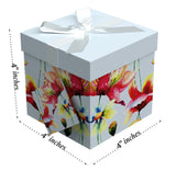 "Sonia EZ Gift Box 4""x4""x4"" Inches - ezgiftbox"
