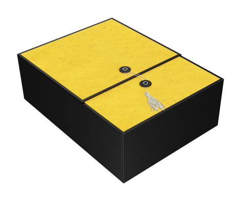 "Karma Yellow EZ Gift Box 12""x9""x4"" Inches - ezgiftbox"