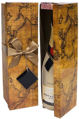 Romanee Map EZ Champagne Box - ezgiftbox