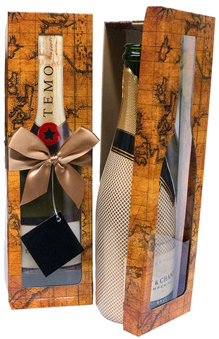 Pomerol Map EZ Champagne Box - ezgiftbox