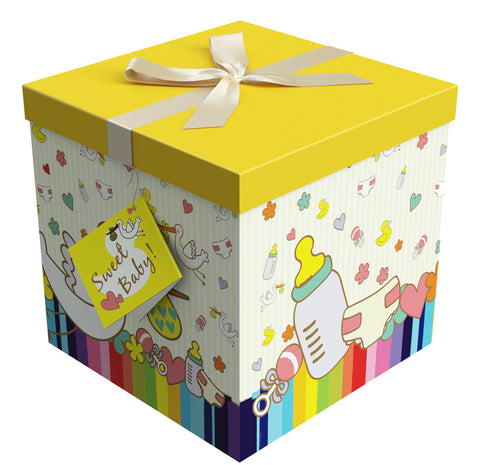 "Petit Bebe EZ Gift Box 10""x10""x10"" Inches - ezgiftbox"
