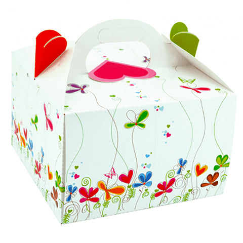 "Cake Box Flowers Set of 2 - 9.5""x9.5""x6"" Inches - ezgiftbox"