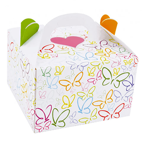 "Cake Box Butterflies Set of 2 - 9.5""x9.5""x6"" Inches - ezgiftbox"