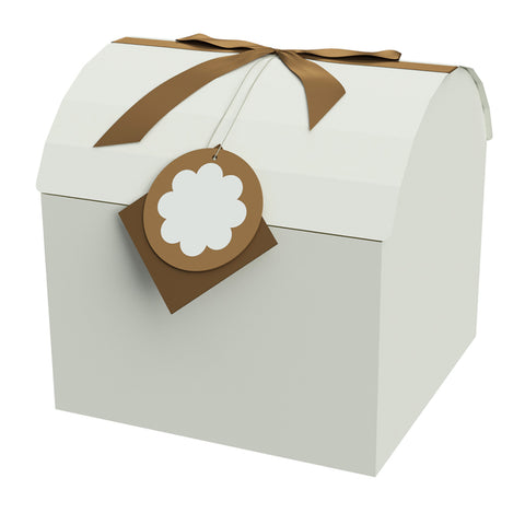 "Chest Box Brown 12""x12""x11.5"" - ezgiftbox"