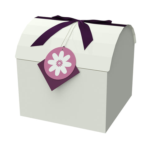 "Chest Box Purple 9""x9""x8"" - ezgiftbox"