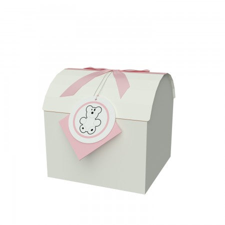 "Chest Box Pink 6""x6""x6"" Inches - ezgiftbox"
