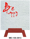 Be Happy Mini Easel Greeting Cards Artwork For Birthdays, Anniversary, Thinking of You, Sympathy Back Blank For Notes by Endless Art US
