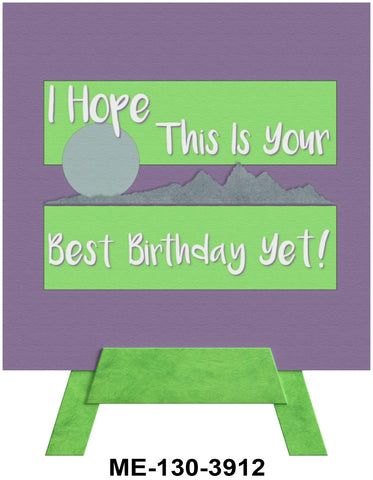 Best Birthday Yet Mini Easel Greeting Cards Artwork For Birthdays, Anniversary, Thinking of You, Sympathy Back Blank For Notes by Endless Art US