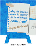 Dreams Come True Mini Easel Greeting Cards Artwork For Birthdays, Anniversary, Thinking of You, Sympathy Back Blank For Notes by Endless Art US