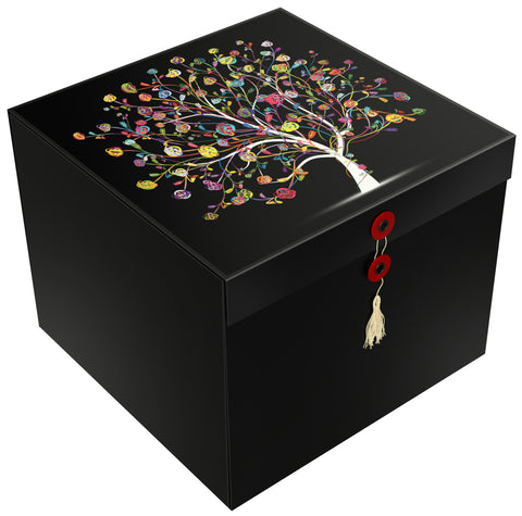 Confetti Tree Lodi EZ Gift Box 10x10x8 Inches - ezgiftbox