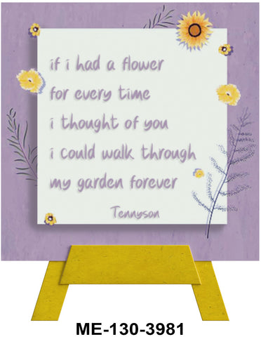 If I Had A Flower Mini Easel Greeting Cards Artwork For Birthdays, Anniversary, Thinking of You, Sympathy Back Blank For Notes by Endless Art US