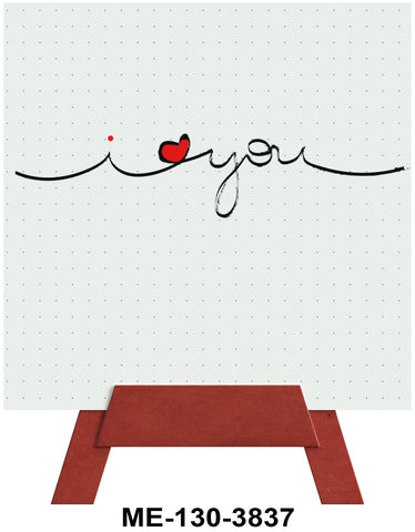 I Heart You Mini Easel Greeting Cards Artwork For Birthdays, Anniversary, Thinking of You, Sympathy Back Blank For Notes by Endless Art US