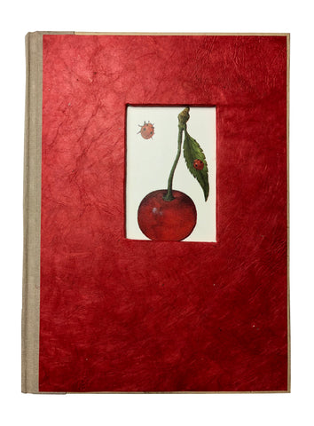 "Hardbound Cherry Journal 6""x8"" Inches - ezgiftbox"
