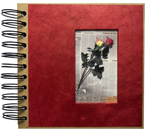 "Spiral Rose Journal 6""x6"" Inches - ezgiftbox"